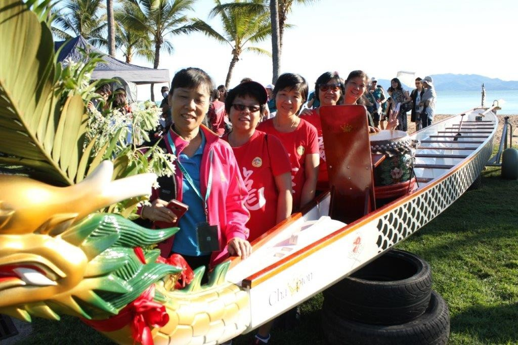 Guests with the Dragon Boat